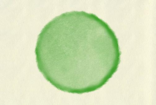 Watercolor polka dots green
