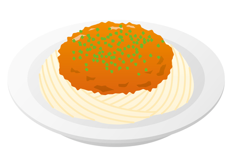 Meat sauce spaghetti