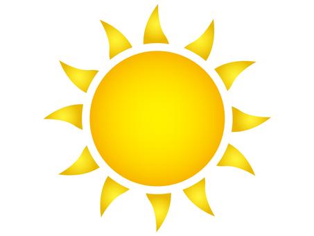 Illustration of the sun B (curve / orange)