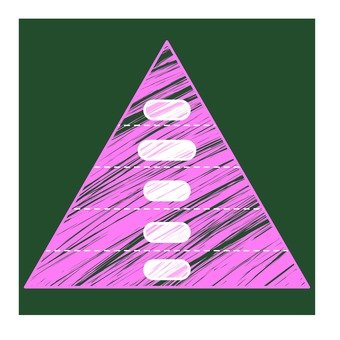 Pyramid graph of blackboard