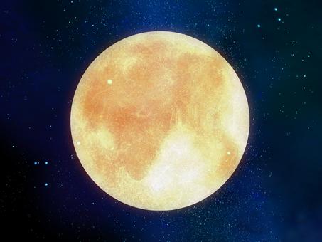 Space wallpaper full moon ①