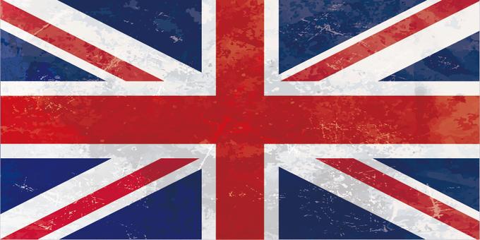 빈티지 스타일 영국 국기