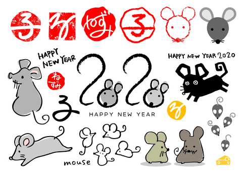 New Year's card material_Child 02