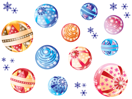 Ball _ snow crystal