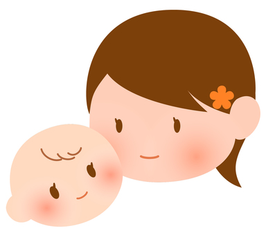 Illustration of mother and baby