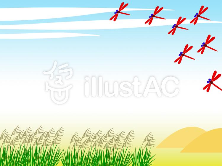 秋の風景フレーム壁紙 飾り枠イラスト素材イラスト No 4467 無料イラストなら イラストac