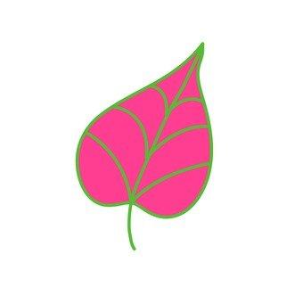 Scandinavy leaves (red)