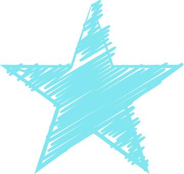 그린 스타 (하늘색)