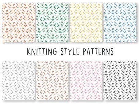 編み物風 パターン スウォッチ セット