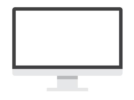 パソコンのディスプレイのイラスト