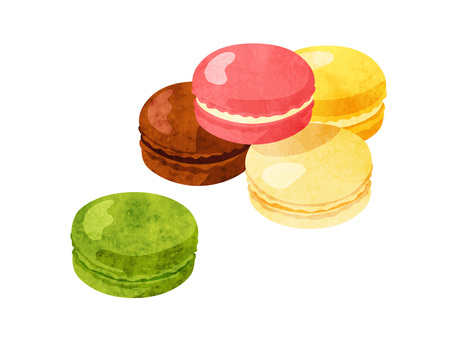 Cookery _ Confectionery _ Macaroon Watercolor