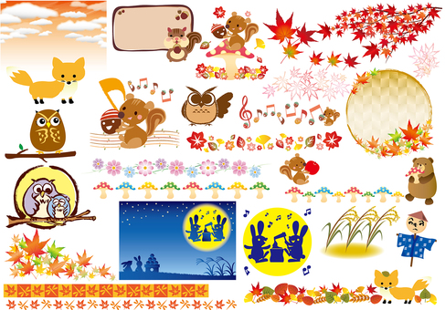 Fall illustration illustration collection animals