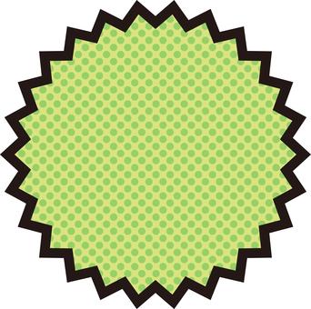 之字形框<綠>