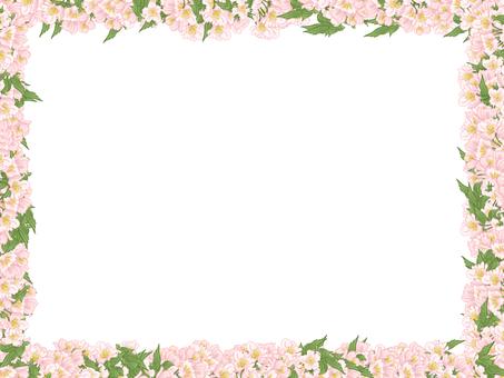 Flower and leaf frame