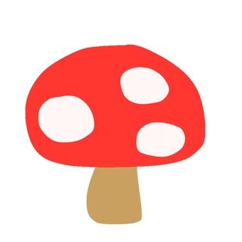 A red mushroom illustration