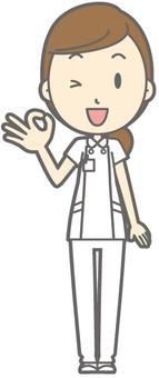 Female nurse - okay - whole body