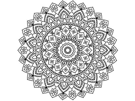 Coloring book for adults Mandala material 9