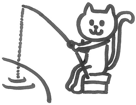 Mr. Nekoyama, winding cat for fishing