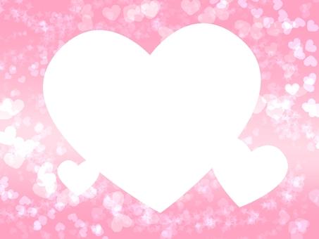 Glitter a heart frame