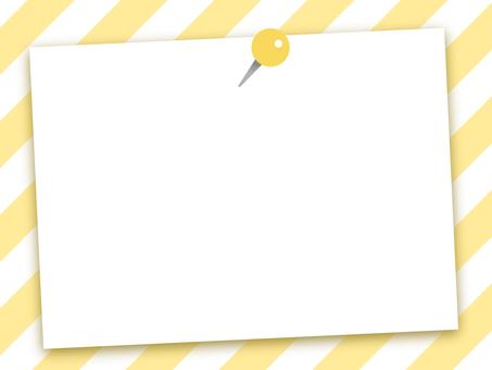 Note paper stripe yellow