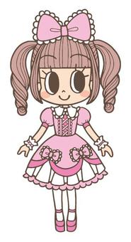 Pink Lolita Fashion Maiden
