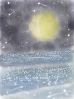 달과 밤하늘
