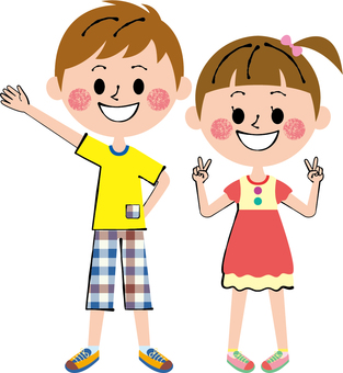 Energetic Child Pair Whole Body