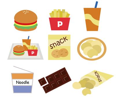 Junk food set
