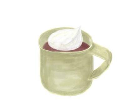 ホットココア ホイップクリーム