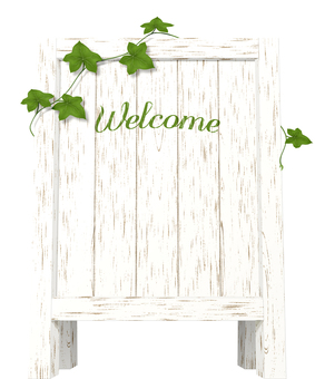 Wood sign 2 _ ivy have _ welcome