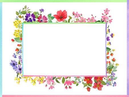 Four seasons flower frame