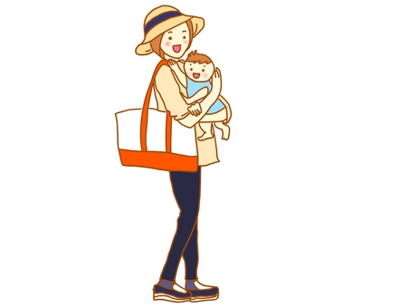 Go out with a baby