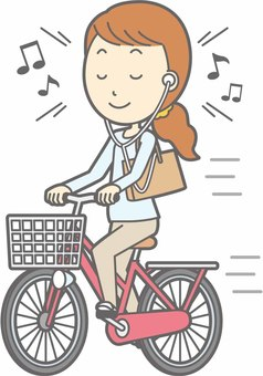 Bicycle woman - Bicycle music - whole body