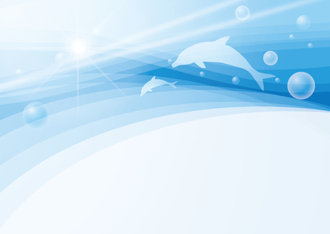 Underwater dolphin background