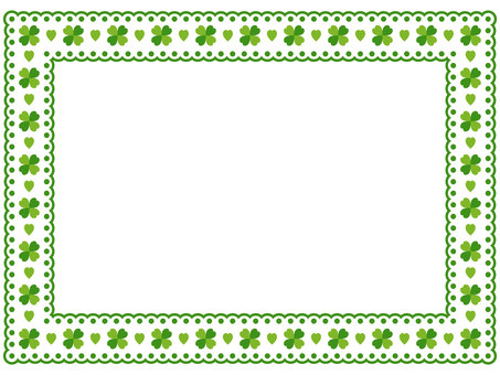 Clover pattern lace frame 1