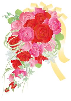 级联花束_玫瑰