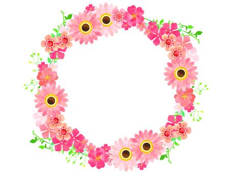 ピンクの春の花03