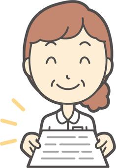 中年婦女護士白色外套-258胸圍