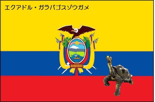 Flag of the world and rare animal 8