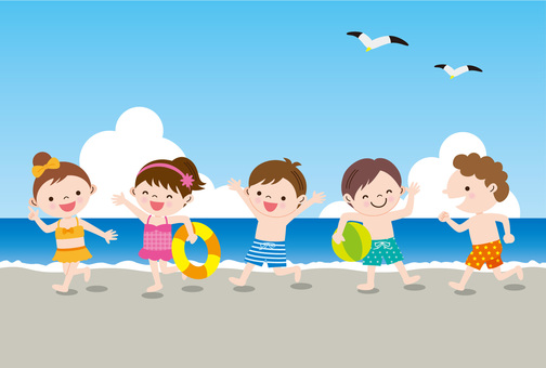 Seaside children