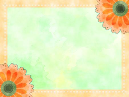 Flower watercolor frame