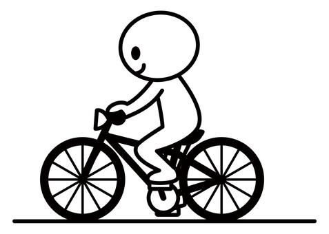 Stick man - ride a bicycle