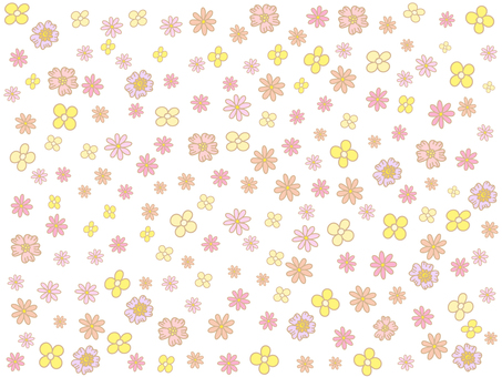 Flower background material