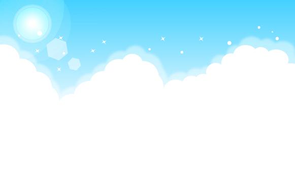 푸른 하늘의 일러스트 컷
