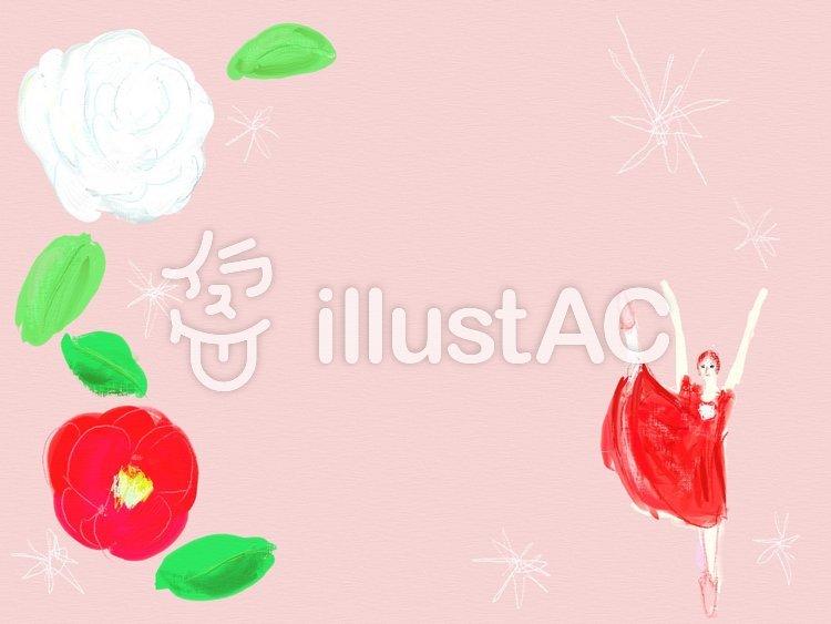 バレエのフレーム 椿姫のイラスト