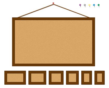 大小自由軟木板