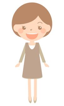 Smiling woman - whole body