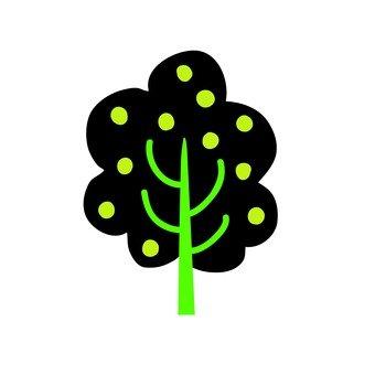 북유럽 풍 나무 (검정)