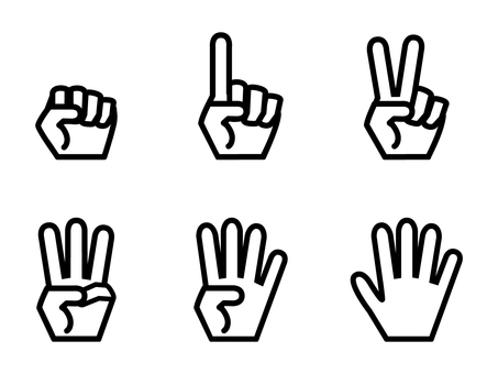 Simple hand number set