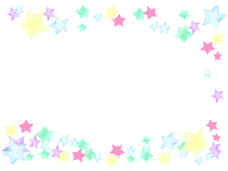 Watercolor stardust frame